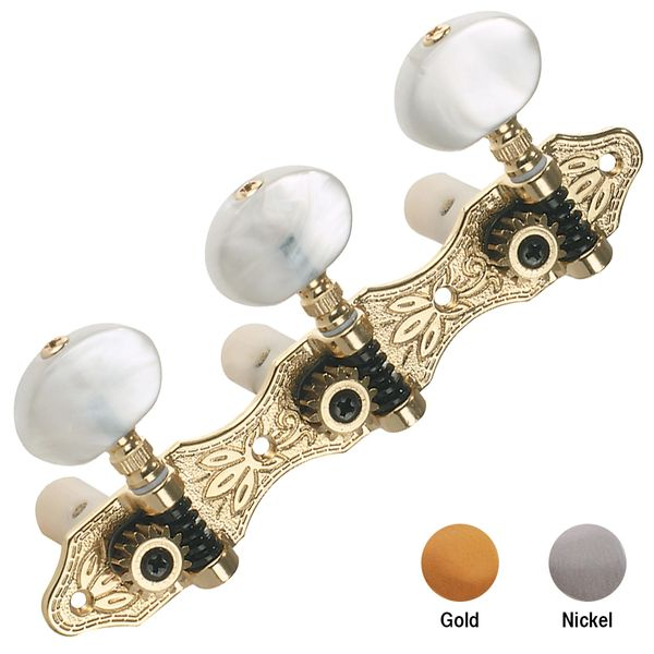 Grover Deluxe Classic Machine Heads - Gold