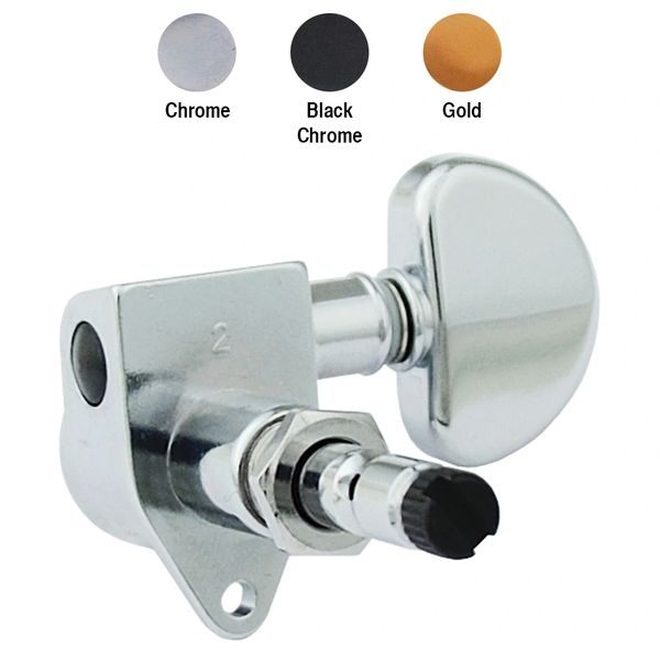 Grover Locking Rotomatics - Black Chrome