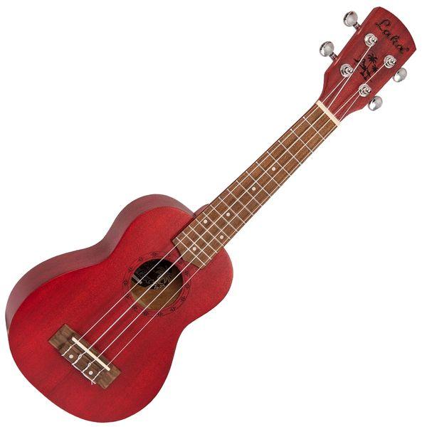 Laka Acoustic Ukulele & Bag ~ Soprano ~ Red