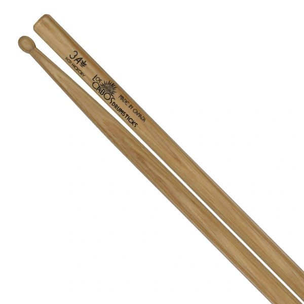 Los Cabos 3A Red Hickory Drumstick ~ Wood Tip
