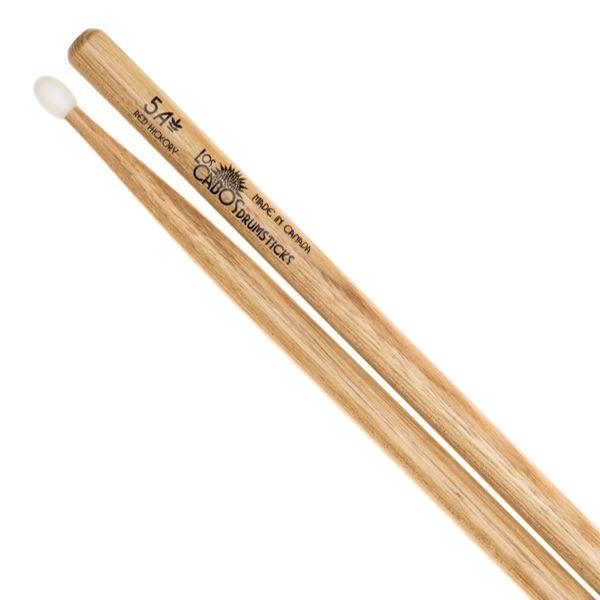 Los Cabos 5A Red Hickory Drumstick ~ Nylon Tip