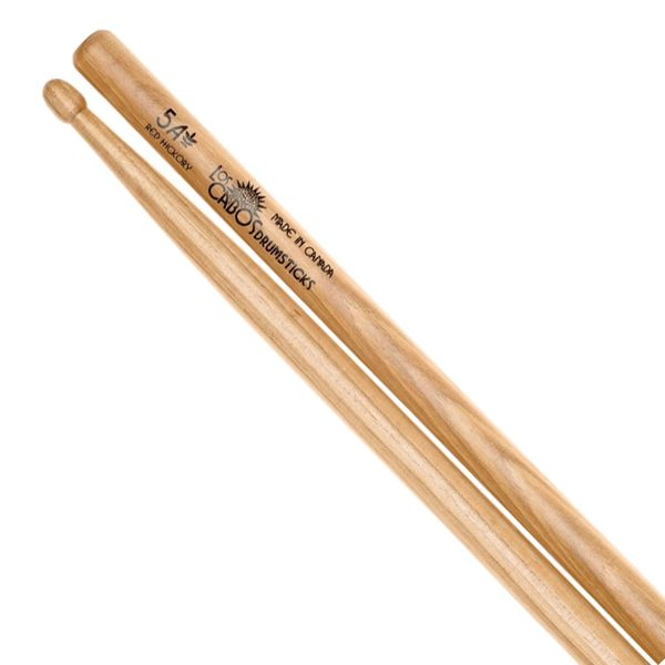 Los Cabos 5A Red Hickory Drumstick ~ Wood Tip