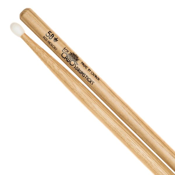 Los Cabos 5B Red Hickory Drumstick ~ Nylon Tip