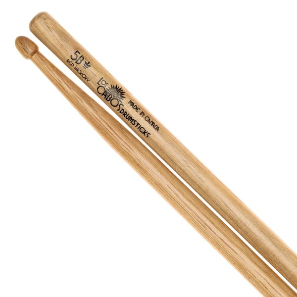 Los Cabos 5B Red Hickory Drumstick ~ Wood Tip
