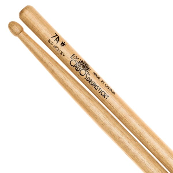 Los Cabos 7A Red Hickory Drumstick ~ Wood Tip