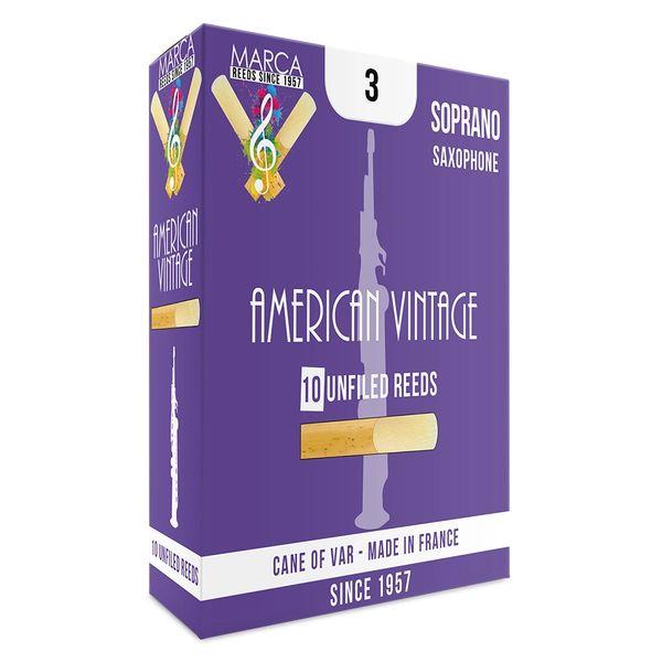Marca American Vintage Reeds - 10 pack - Soprano Sax - 3