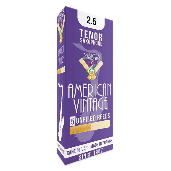 Marca American Vintage Reeds - 5 pack - Tenor� Sax - 2.5