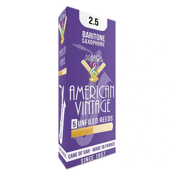Marca American Vintage Reeds - 5 pack - Baritone� Sax - 2.5