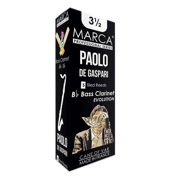 Marca Paolo De Gaspari Reeds - 5 Pack - Bass Clarinet - 3.5