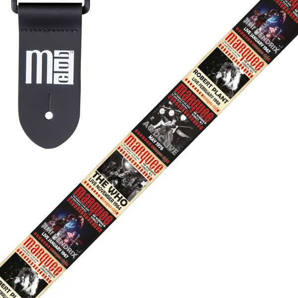 Marquee Club Guitar Strap ~ Classic Moments