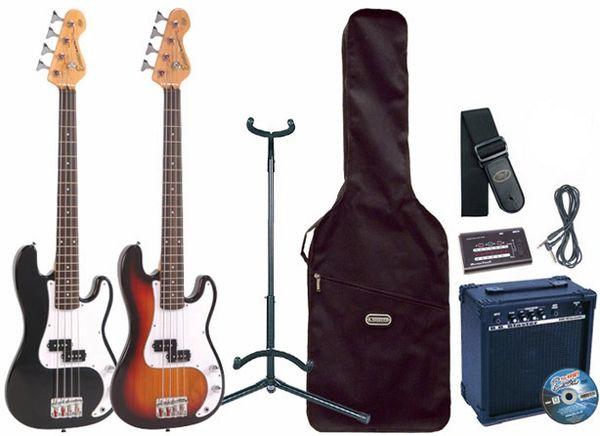 Encore E20 7/8 Scale Bass Guitar Pack