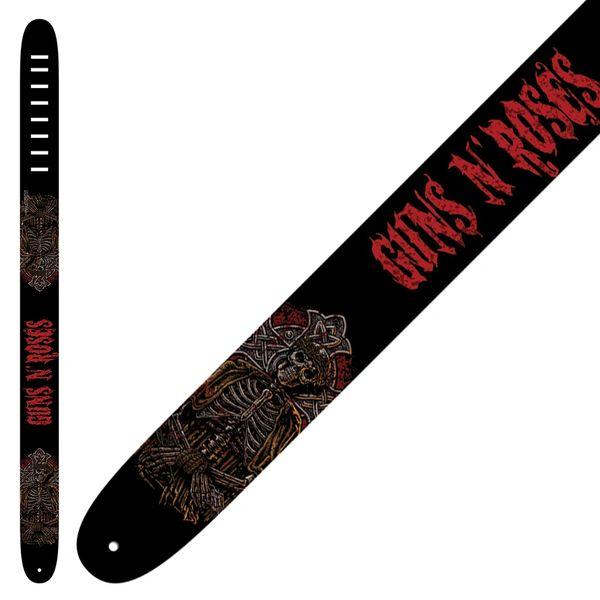 Perri's Leather Guitar Strap ~ Guns 'n' Roses ~ Red