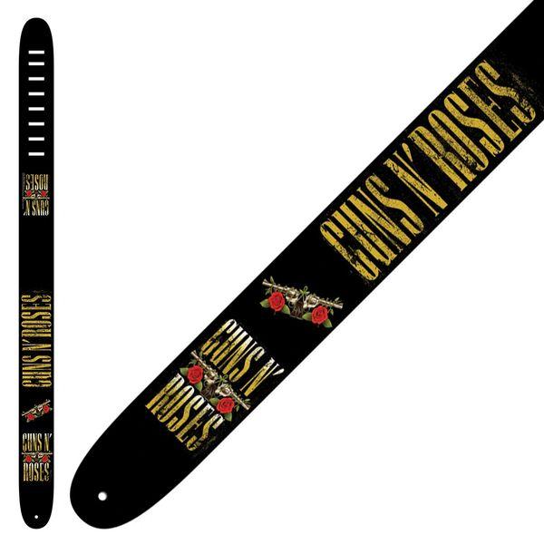 Perri's Leather Guitar Strap ~ Guns 'n' Roses ~ Yellow