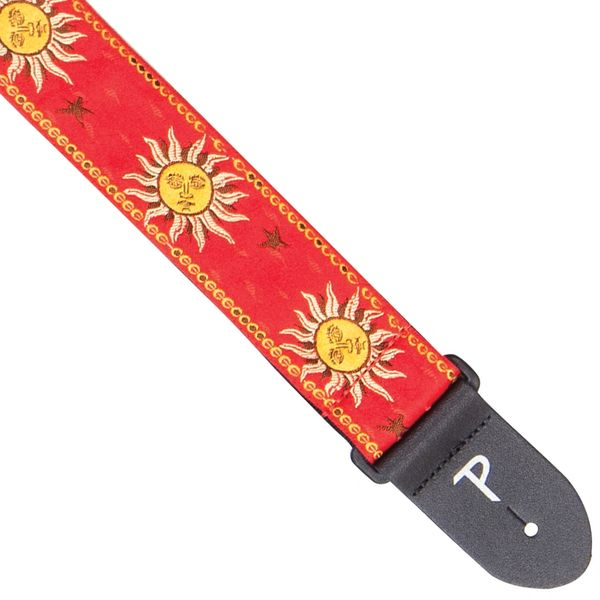 Perri's Cotton Jacquard Guitar Strap ~ Yellow Suns