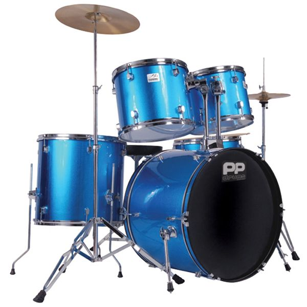 PP Drums Full Size 5 Piece Drum Kit ~ Blue