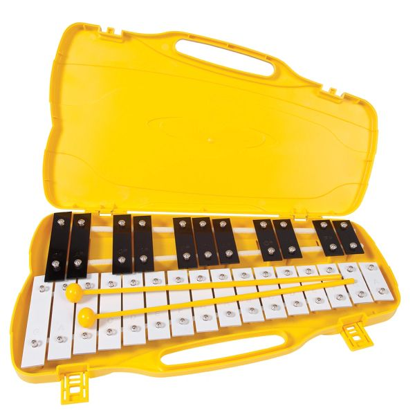 PP World 27 Note Glockenspiel - Black & White Metal Keys