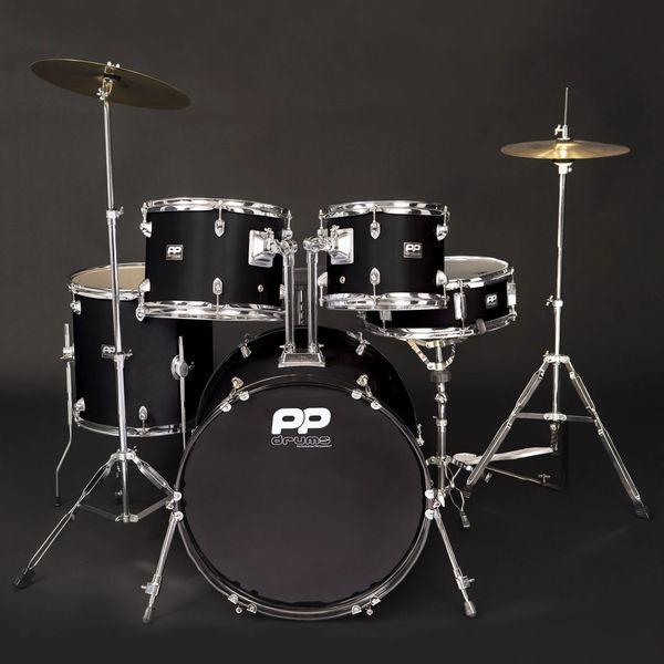 PP Drums 5pc Fusion Drum Kit ~ Black