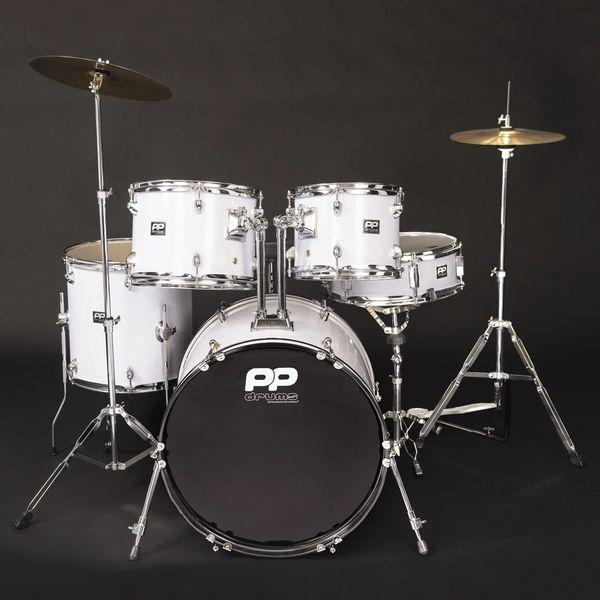 PP Drums 5pc Fusion Drum Kit ~ White