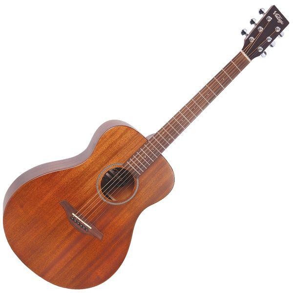 Vintage V300 Acoustic Folk Guitar ~ Mahogany