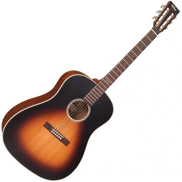 Vintage Historic Series 'Dreadnought' Electro-Acoustic Guitar ~ Vintage Burst