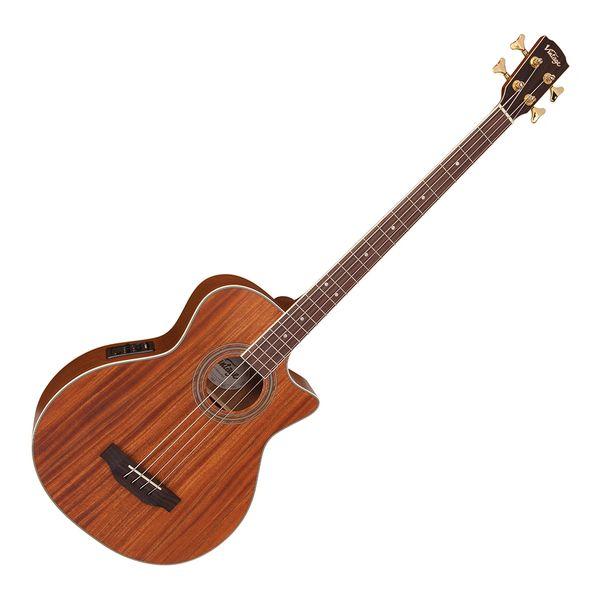 Vintage VCB430 Electro-Acoustic Bass ~ Mahogany Open Pore