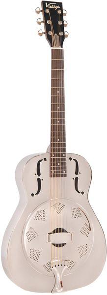 Vintage AMG1 Single Cone Acoustic Resonator Guitar - Chrome
