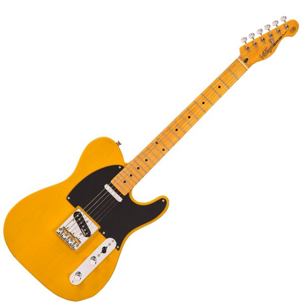Vintage V52 ReIssued Electric Guitar ~ Butterscotch