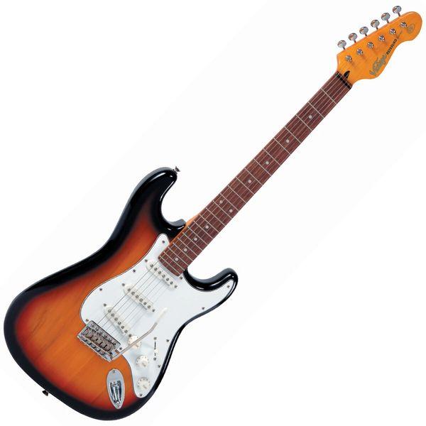 Vintage V6 ReIssued Electric Guitar ~ Sunset Sunburst