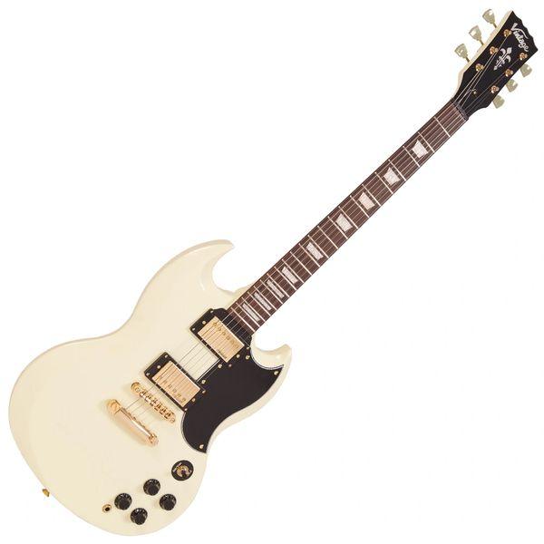 Vintage VS6 ReIssued Electric Guitar ~ Vintage White/Gold Hardware