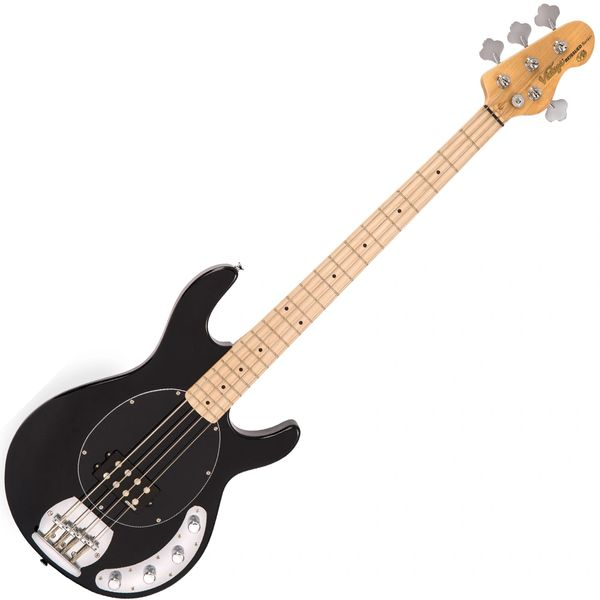 Vintage V96 ReIssued 4-String Active Bass ~ Black