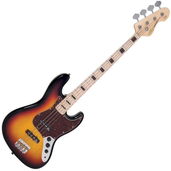 Vintage VJ74 ReIssued Maple F/Board Bass ~ Sunset Sunburst