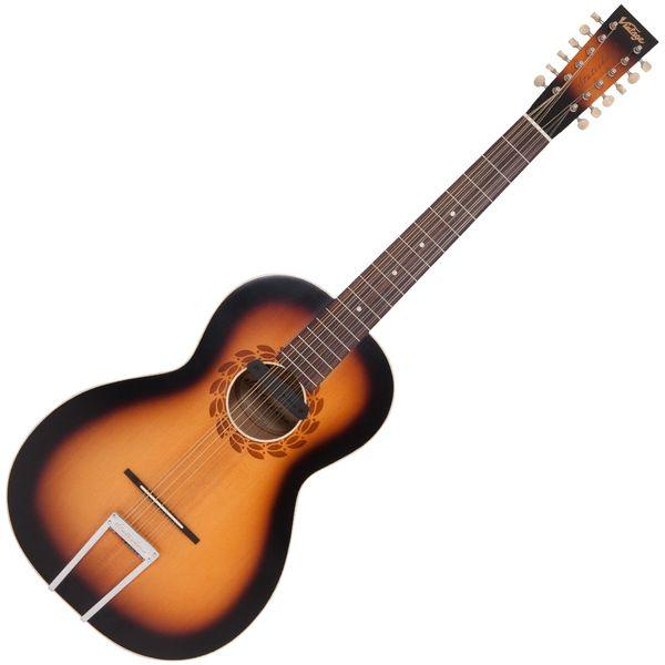 Vintage 'Statesboro' Paul Brett 12 String Electro-Acoustic ~ Satin Antique Burst