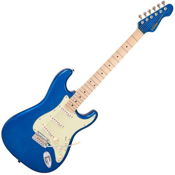 Vintage V6 John Verity Signature Electric Guitar ~ Candy Apple Blue