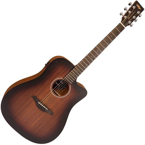 Vintage Statesboro' 'Dreadnought' Electro-Acoustic Guitar ~ Whisky Sour
