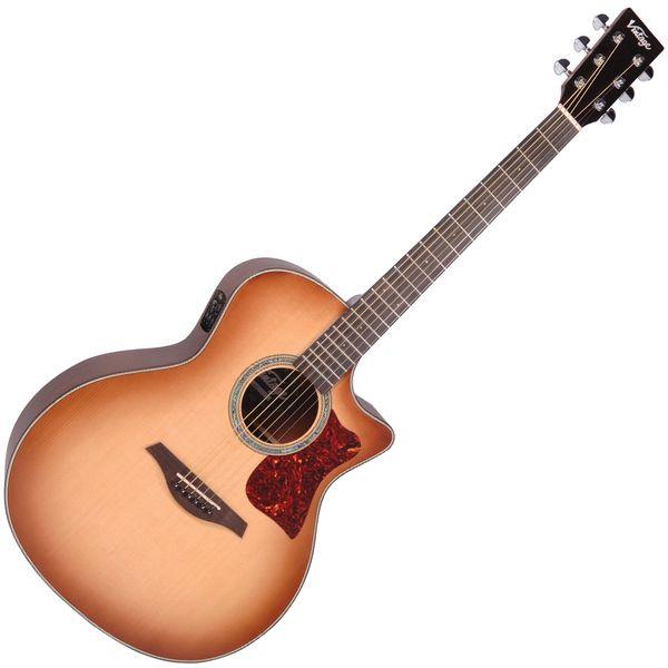 Vintage VGA990 Electro-Acoustic Sweetwater Guitar ~ Sunburst