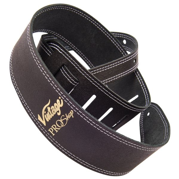 Vintage ProShop Leather Guitar Strap - Black