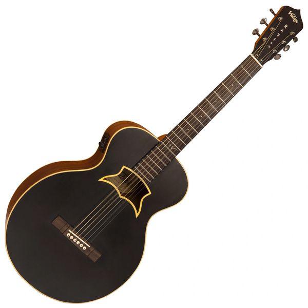 Vintage 'Raven' Paul Brett Electro-Acoustic Guitar ~ Satin Black