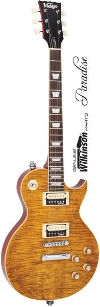 Vintage V100AFD Guitar - Paradise Flamed Maple