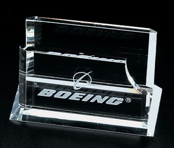 Optical Crystal Business Card Holder