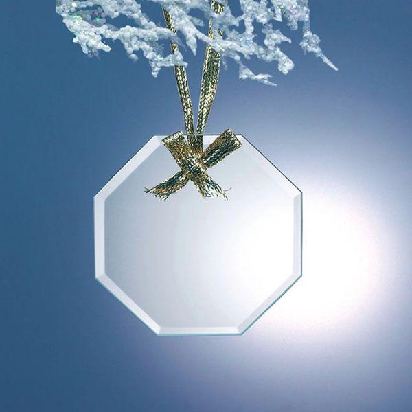Octagon Jade Glass Ornaments