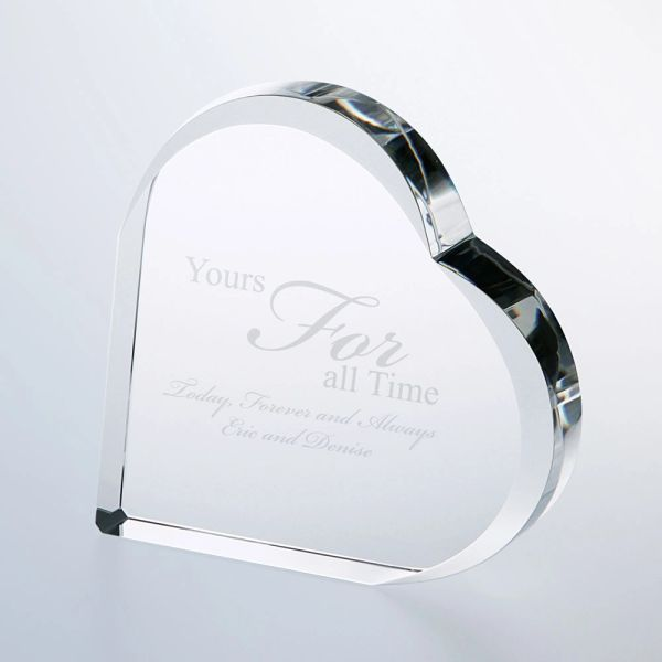 Clear Glass Keepsake Heart