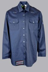 YLOZ Keeper; Flame Resistant Snap To Fit Button Down Long Sleeve