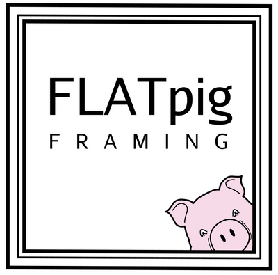 Flatpig framing.  Custom art framing