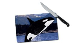 Orca Small Tempered Glass Cutting Board