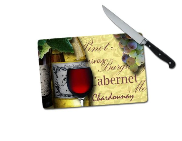 Wine Small Tempered Glass Cutting Board