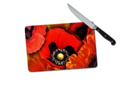 Poppy Small Tempered Glass Cutting Board