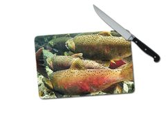 Fish Small Tempered Glass Cutting Board