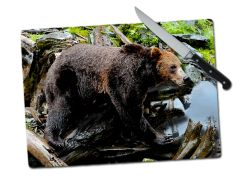 Bear Large Tempered Glass Cutting Board