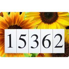 Sunflower Address Sign Large