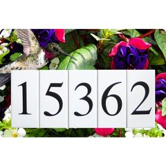 Hummingbird Address Sign Large
